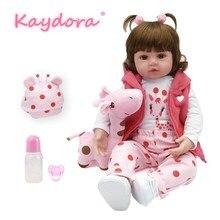 KAYDORA 18 дюймов bebes Кукла реборн Новый ручной работы силикона reborn lol Детские очаровательны Lifelike малыша Bonecas девочек menina de
