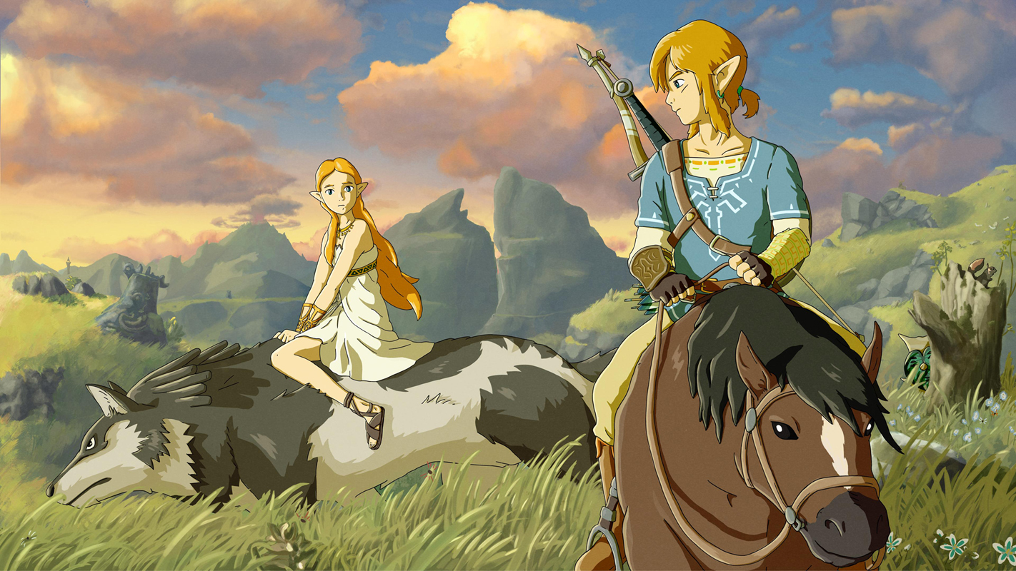 game the legend of zelda breath of the wild art silk fabric poster