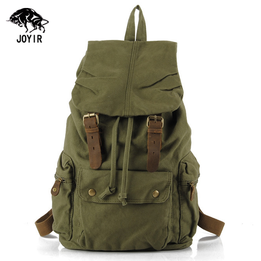 Canvas Backpack Men Vintage Military Designer Bagpack Women Travel Laptop School Bags 2017 Cheap Drawstring Rucksack