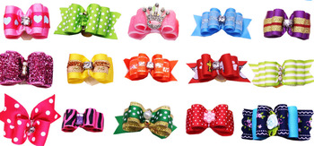 120PCS Mix Designs Pet Dog Bows with Rhinestone Crown Pearl Pet Dogs Bows Bowknot  Dog Hair Bows Grooming Accessories Product 4