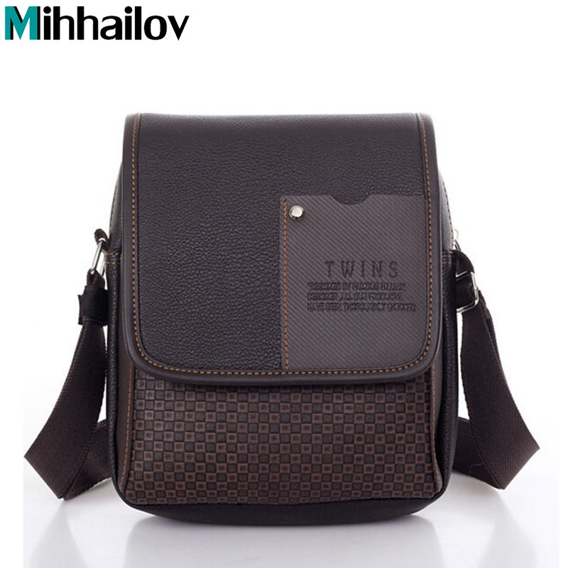 2019 New Pu Leather Men Messenger Bag Briefcase Shoulder Crossbody Handbag Business Bag Casual Men's Travel Bag  KY-1