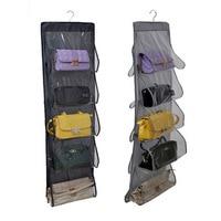 Wardrobe Hanging Storage Organizer Closet Handbag Holder With 10 Pockets For Purse Tote Bag Home Organization
