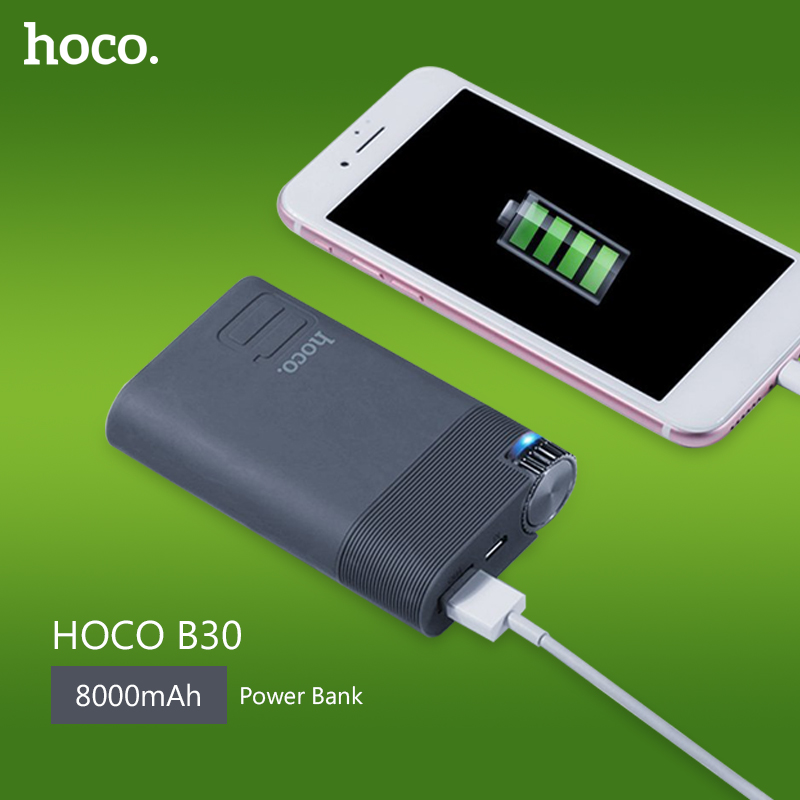 HOCO B30 font b Power b font Bank 8000mAh 30Wh Color 18650 Battery External font b