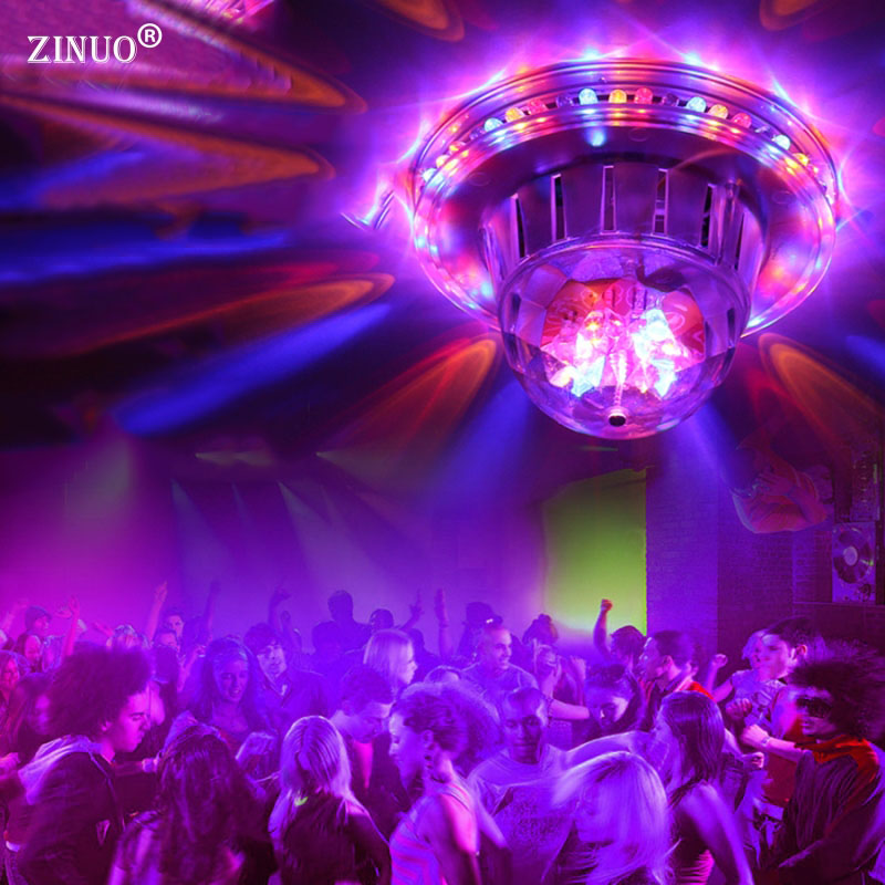 ZINUO Disco Light Voice Control Crystal Magic Ball Led Stage Lamp DJ Party Lights Sound Control Christmas Laser Projector DMX transctego led stage lamp laser light dmx 24w 14 modes 8 colors disco lights dj bar lamp sound control music stage lamps
