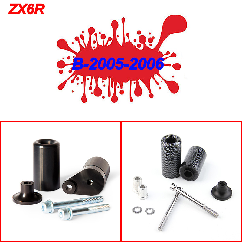 For Kawasaki Ninja ZX6R ZX 6RR ZX636 ZX 6R 03 04 05 06 13 14 Frame Slider Crash Pads Falling Protector Motorcycle Accessories in Falling Protection from Automobiles Motorcycles