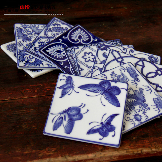 ceramic home accessories ceramic coasters ceramic blue and white