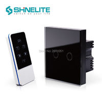 Free Shipping Smart Switch Ivory White Crystal Glass Panel UK Standard 2 Gang Remote Home Wall