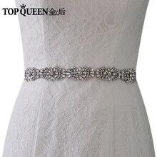 Topqueen S338 Brial Belts Wedding Sash Rhinestones Accented Bridal Belt Luxury Sparkling Diamond Diy