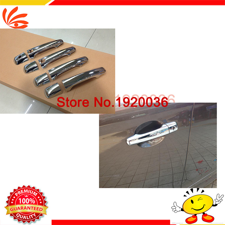 Car styling ABS Chrome door handle for VOLVO XC60 CHROME SIDE DOOR HANDLE BAR COVER CATCH TRIM MOLDING CAP MOULDING