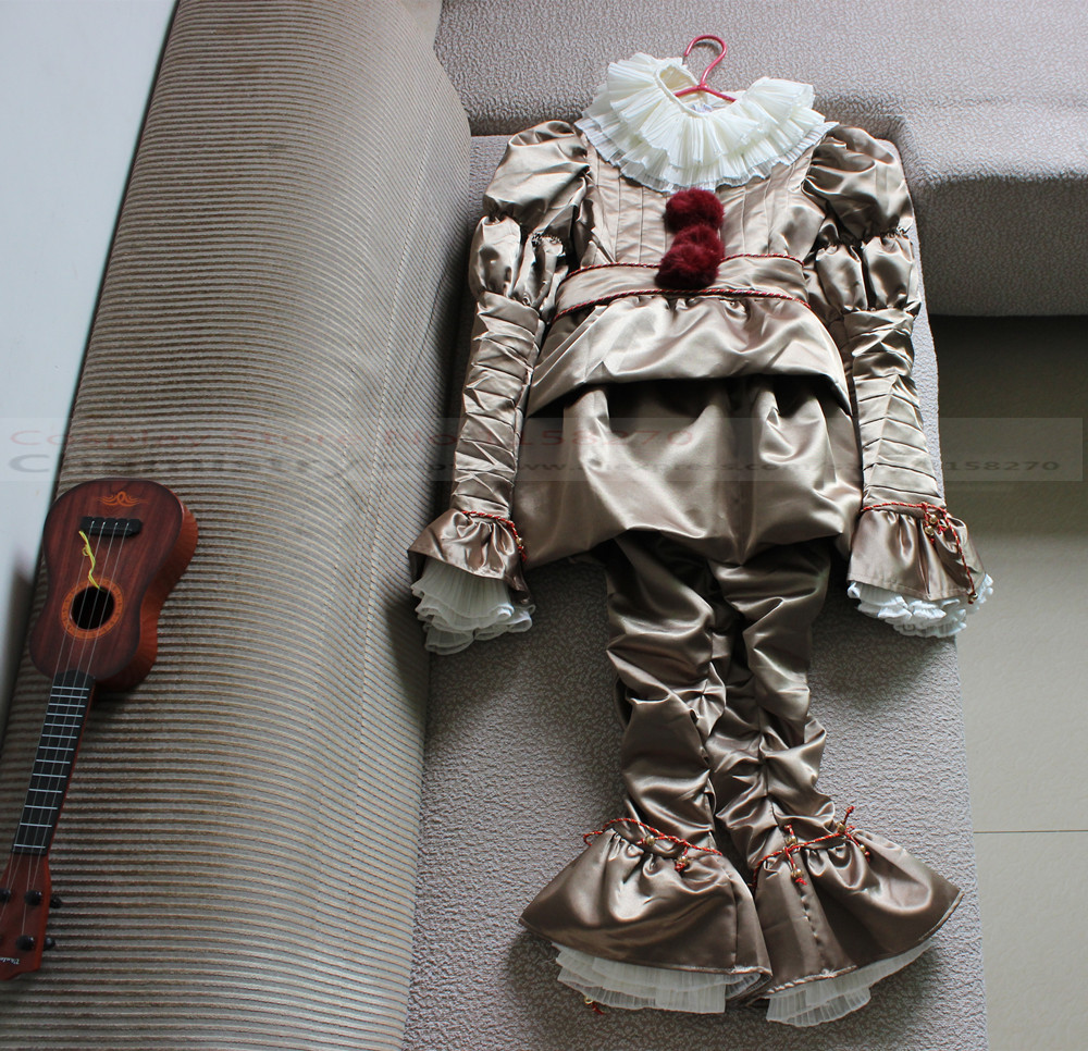 Free shipping Stephen King's It Pennywise Cosplay Costume