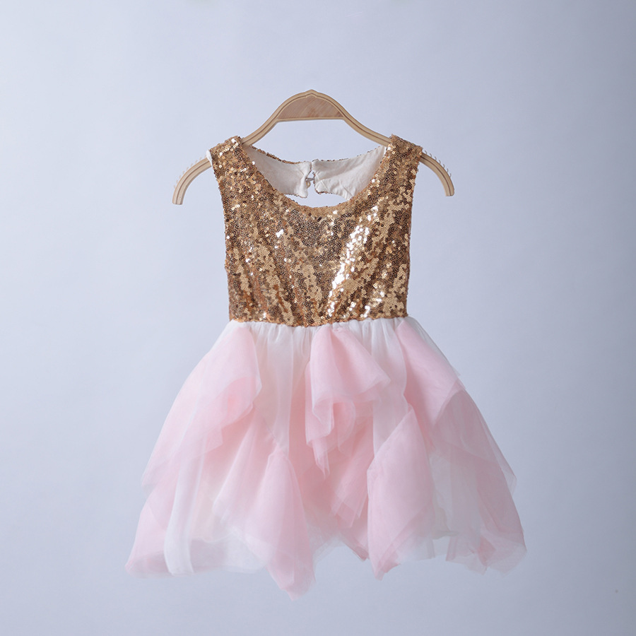 Buy Cheap Baby Girls Princess TUTU Dress Sequined Patchwork Backless Dresses Summer Sleeveless Clothes Free Shipping For 2-6Y