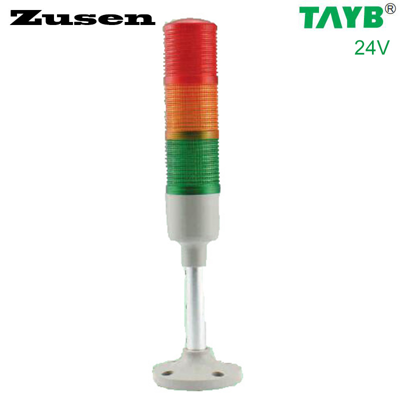 Zusen 40mm Signal Tower Light  TB42-3T/W-D 24V Red Green Yellow Led Always Bright And Shiny