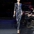 Европейский стиль дамы 3 шт. платье женская одежда комплект полный печать Top + юбки костюм новый высокая - конец мода дамы