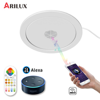 ARILUX 24W Music Ceiling Light Wifi Remote Voice Control Bluetooth Speaker RGBW+WW LED Ceiling Down Light Support Alexa