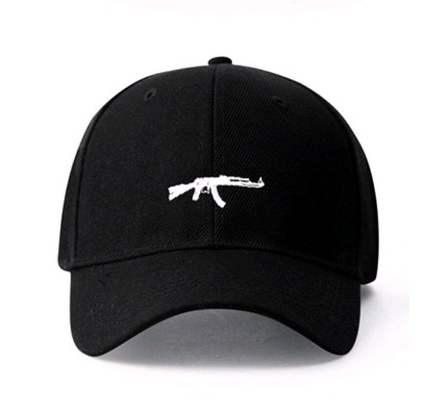 Hot Uzi Gun Baseball Cap Ak47 Snapback US Fashion 2017 Casquette Dad Hat Cotton Unisex Bone casquette de marque Headwear Visor brushed cotton twill ivy hat flat cap by decky brown