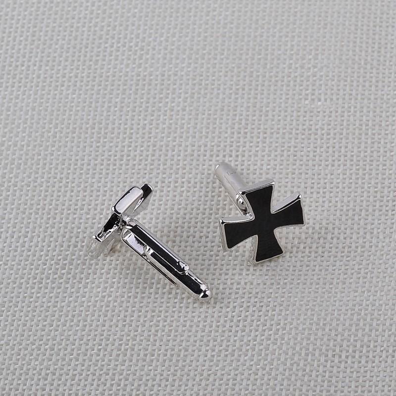 HTB1alnkKXXXXXaIXXXXq6xXFXXXi - Black Cross Shaped Cufflinks