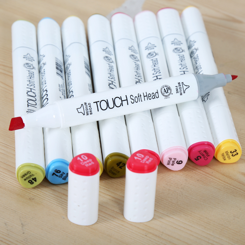 10 Piece/lot Double Head Sketch Marker Pen Sketch Markers Set For School Drawing Animation Design Markers Random Color