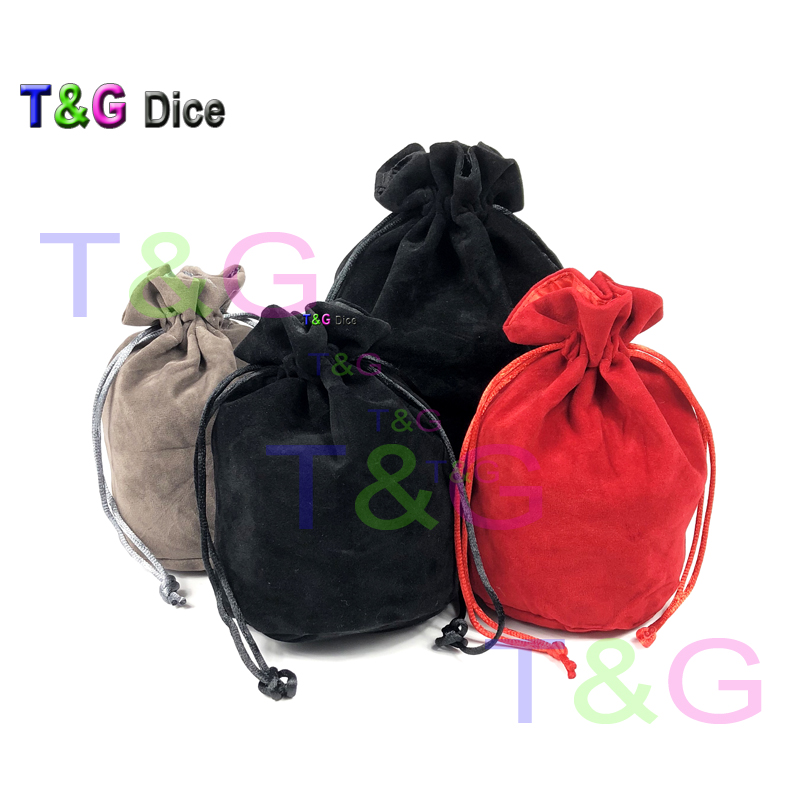TOP Quality Dice bag Jewelry Packing Velvet bag Velvet Drawstring bags & Pouches for packing gift game 2type 3 colors Board Game