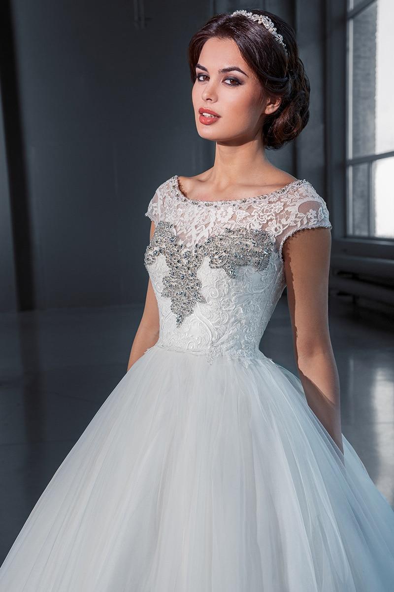 wuzhiyi elegant shine wedding dress Appliques Custom made wedding dress China factory sale cheap wedding dress Ball Gown dress