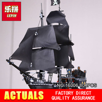 804pcs LEPIN 16006 Pirates Of The Caribbean The Black Pearl Building Blocks Set 4184 Friends Toy