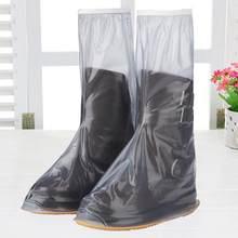 ca2deb8a277 Motocicleta espesar lluvia impermeable zapatos cubre botas antideslizantes  cubiertas 100% impermeable ajustable(China)