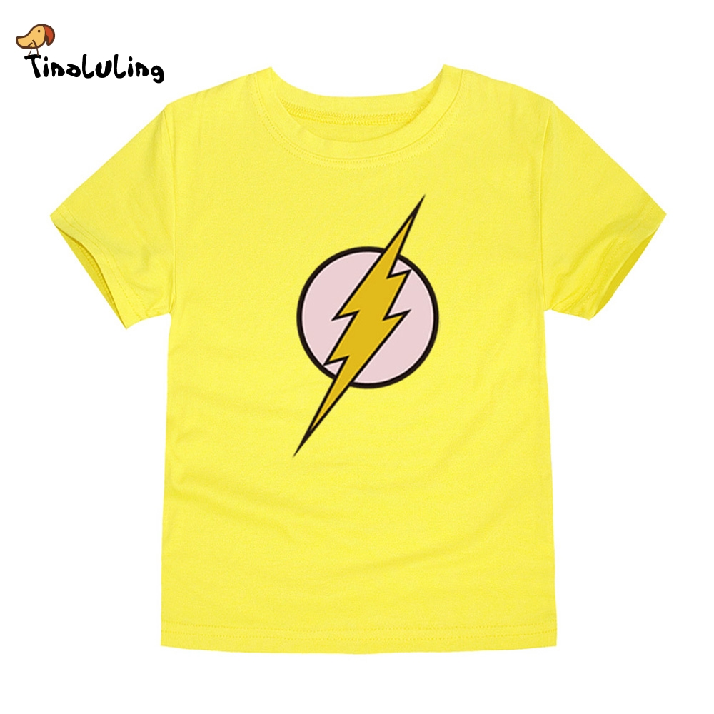 Tinoluling 2017 kids flash t shirt boys girls superhero t Boys superhero t shirts