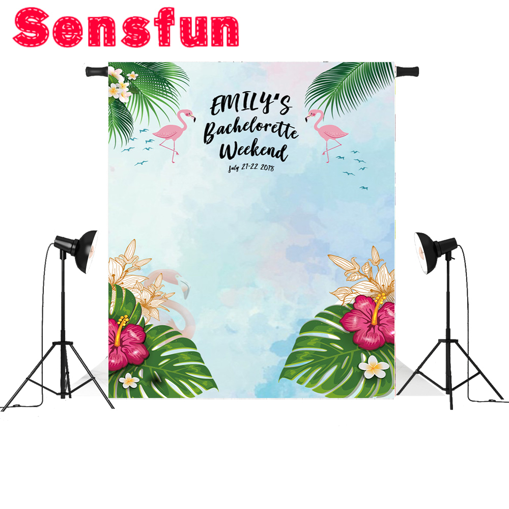 Vinyl Newborn Background Flamingo Children Birthday Party Custom Photography Studio Backgrounds Photo Backdrops 7x5ft 2m 3m vinyl custom children photography backdrops prop photo studio background gc 5254