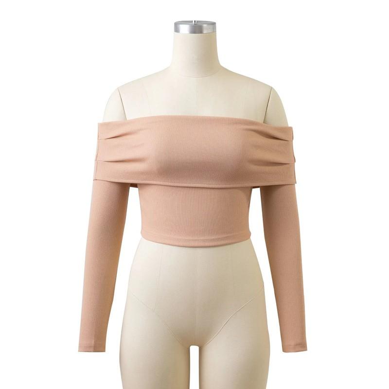 HTB1aloNOFXXXXb5XpXXq6xXFXXXq - Women Slash Neck Off Shoulder Crop Top Long Sleeve Sexy JKP024