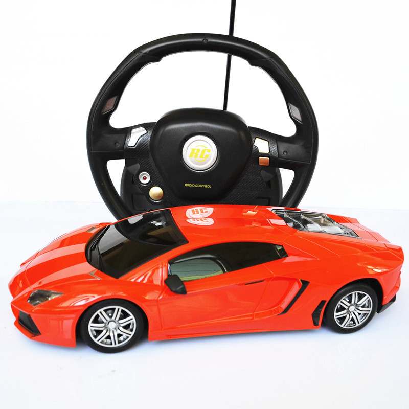 Car Toys Color : Red color gravity sensing steering wheel remote