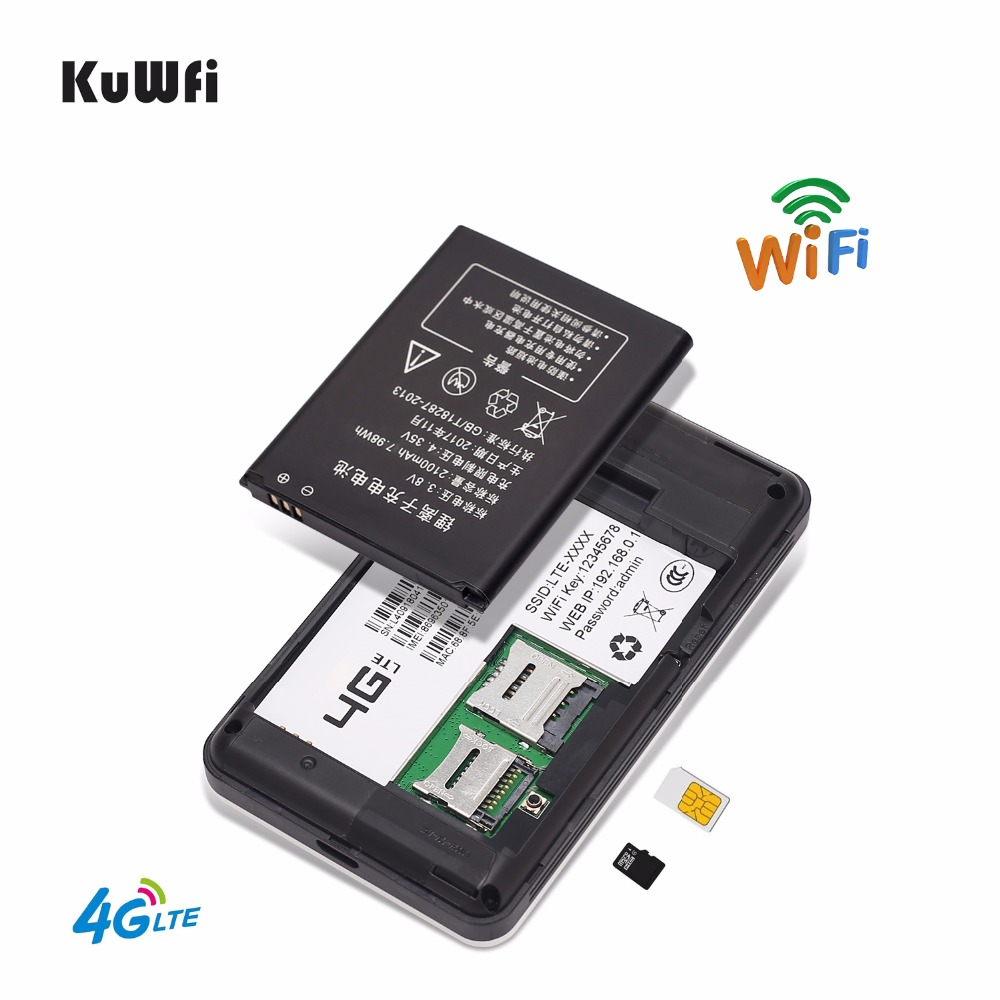 Image 3 - KuWFi 4G Mini Wifi Router 3G/4G LTE Wireless Router Portable Pocket Mobile Hotspot Car Wifi Router Support B39/B40/B41-in 3G/4G Routers from Computer & Office