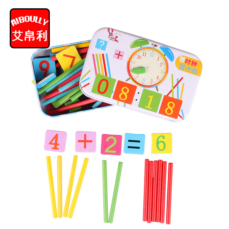 Children Wooden Mathematics Puzzle Toy Kid Educational Number Math Toys Calculate Game Early Learning Counting for Kids fashion long parka kids long parkas for girls fur hooded coat winter warm down jacket children outerwear infants thick overcoat
