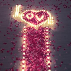 Image 2 - 500pcs משי רוז עלי כותרת חתונת קישוט מזויף פרח עלי כותרת קונפטי אירוסין יום נישואים מסיבת בית דקור אבזרים