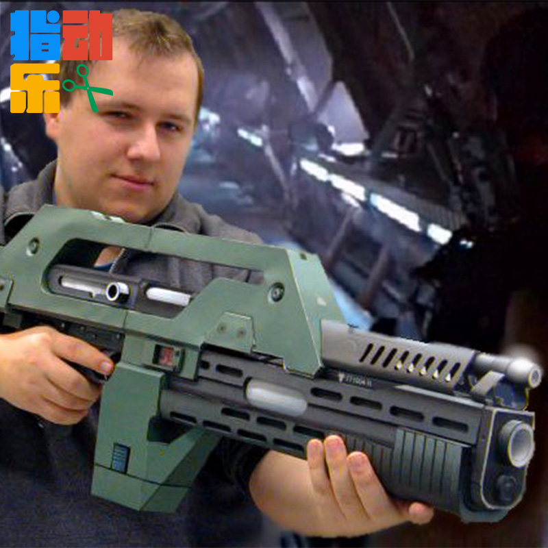 m41a pulzní puška koupit - 1:1 scale Alien 3 weapons M41 - A pulse rifle 3 d paper model DIY toys for christmas gift