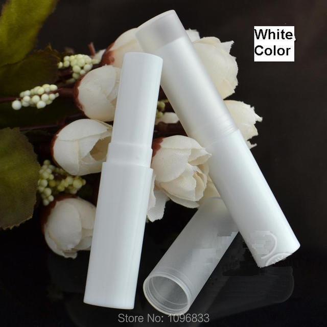 4G Lipstick Tube White Color Cosmetic Packaging Bottle, Empty White Lip Balm Tube, PP Plastic Tube New Thin Model, 100PCS/LOT