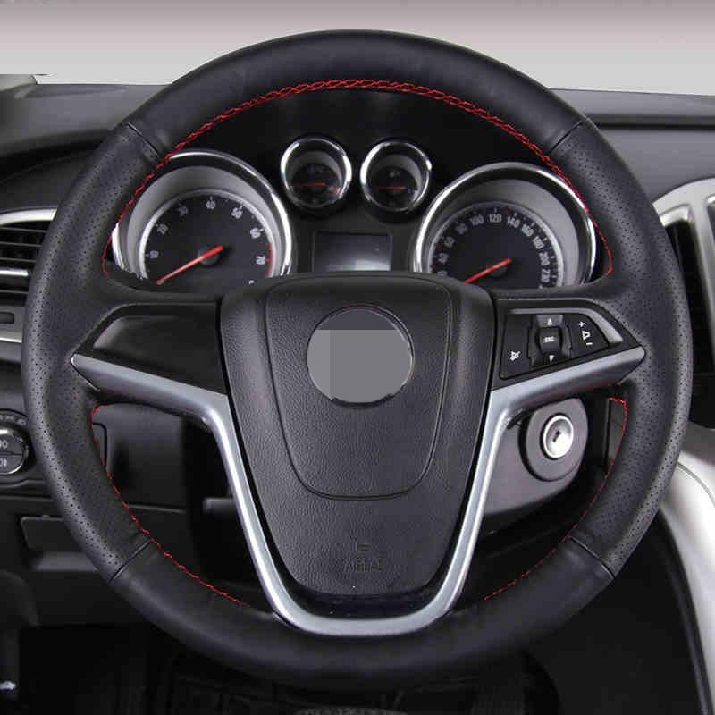 Zwart kunstleder auto stuurhoes voor Buick Excelle XT GT Encore Opel - Auto-interieur accessoires - Foto 4