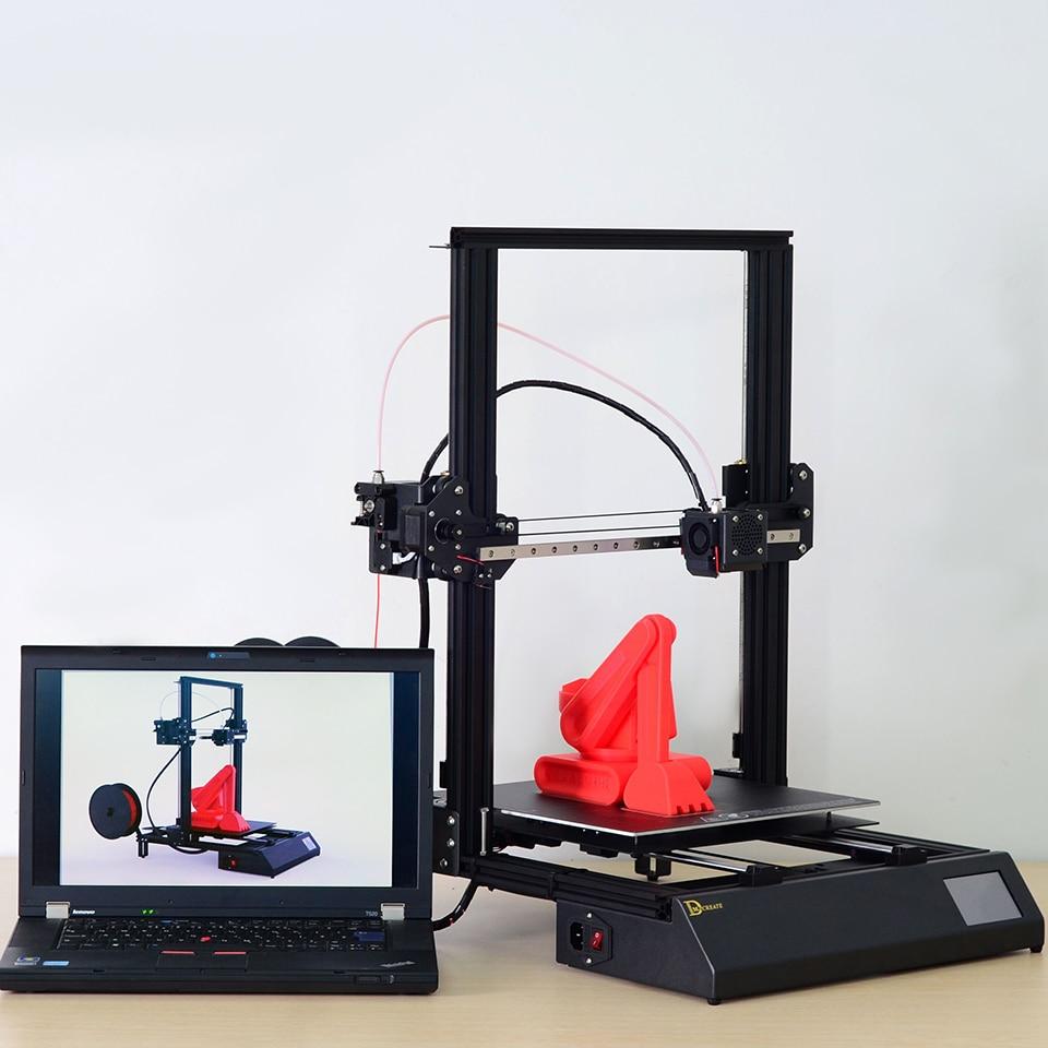 Grande formato di stampa 300*300*400 millimetri DMSCREATE DPX 3D kit stampante struttura In Metallo di alta precisione KIT FAI DA TE