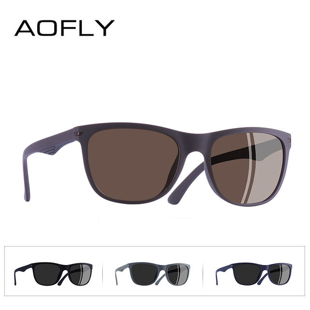 AOFLY BRAND DESGIAN Fashion Sunglasses Men Square TR90 Frame Polarized Sun Glasses Male Outdoor Sports Shades AF8081 4