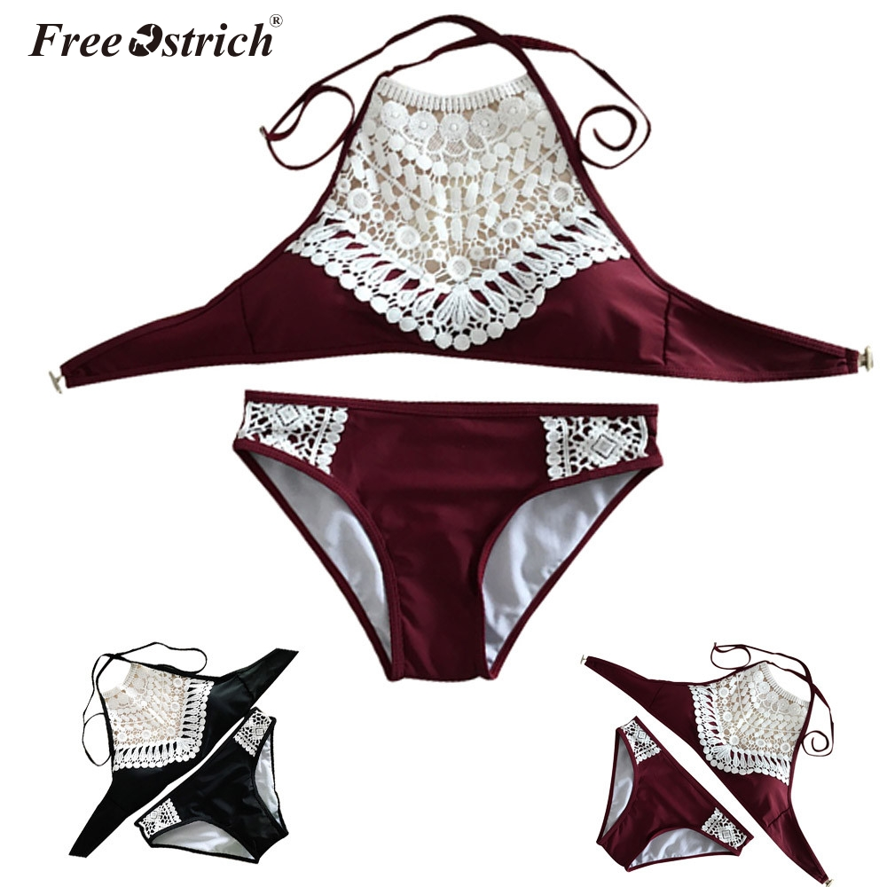 Free Ostrich Sexy Lace cup   Bra     Sets   For Women Wireless Thin Cotton Breathable Comfortable Underwear Solid color Lingerie   Set   N30