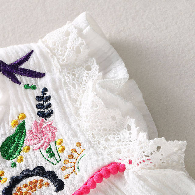 Baby girl's flower embroidery dress