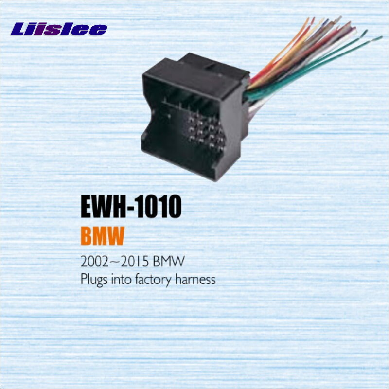 Liislee For BMW 2002~2013 Male ISO Radio Wire Cable Wiring Harness