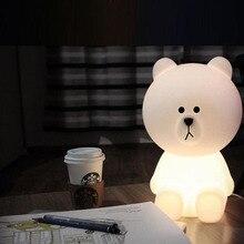Bear Pig Rabbit Led Night Light Dimmable Cartoon Bedroom Desk Table Lamps for Children Kids Baby Best Christmas Gift
