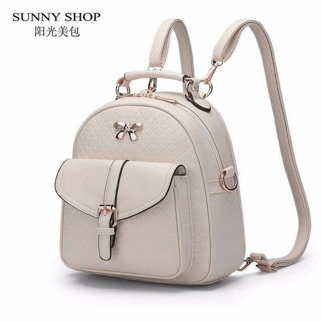 bebd58fbba30 SUNNY SHOP Cute Fresh Student Backpack Brand Designer Backpack bagpack school  bags for teenagers Girls Casual Plaid Daypack