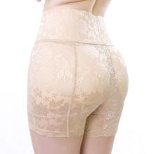 Women False Butt Pads Abundant Buttocks Panties Jacquard High Waist Butt Lift Boyshorts Cover Belly Potent Shaping Knickers 8923