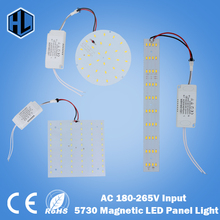 цены free shipping 1pcs 7W 10W 15W 18W 21W 25W 35W 45W LED Aluminium Board Lamp 85-265V 5730 Magnetic LED Ceiling chandelier Light