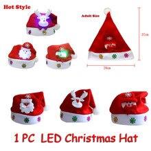 Лидер продаж; детский светодиодный Рождественский головной убор для взрослых; Санта-Клаус; олень снеговик; рождественские подарки; шапка; шляпа Санта-Клауса;#25
