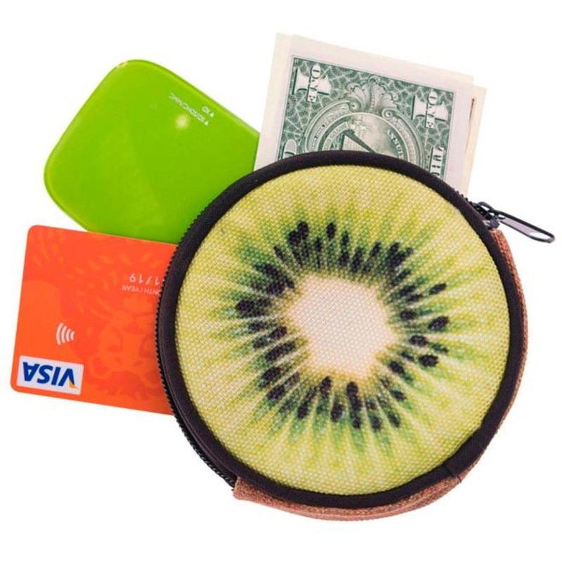 Women Girl Cute Printing Round Coins Change Purse Clutch Fashion Ladies Zipper Zero Wallet Key Bags Card Coin Purses Holder girl coins purse printing zipper change clutch wallet bag cute emoji key bags monedero para monedas 7111