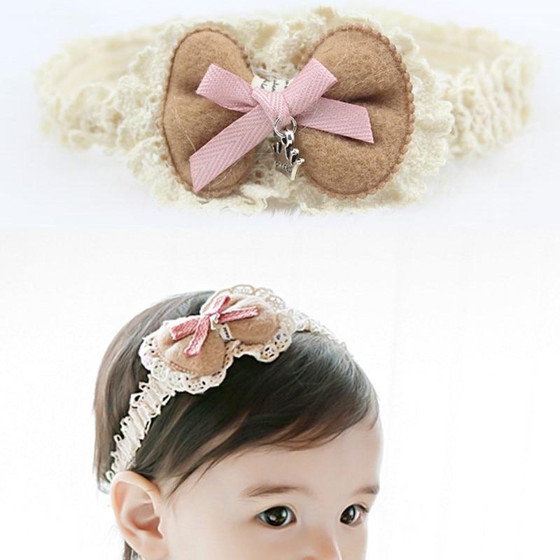 Koreaanse Versie Strik Kids Haarband Kant Tand Randen Breien Hand