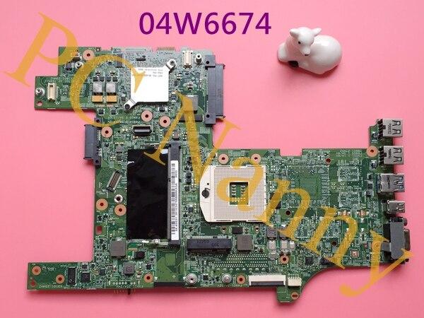 04W6674 For Lenovo ThinkPad L430 Laptop Motherboard Intel GMA HD HM76 DDR3 2xSO-DIMM for lenovo thinkpad x200 intel gm45 motherboard 43y9980 48 47q06 031 intel gma x4500