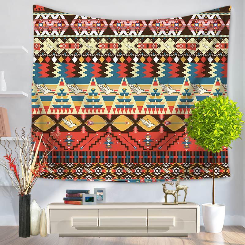 CAMMITEVER <font><b>Bohemian</b></font> Polyester <font><b>Indian</b></font> Mandala Wall Hanging <font><b>Tapestry</b></font> 150X130cm Throw Blanket Dorm Yoga Mat Home Room Decor