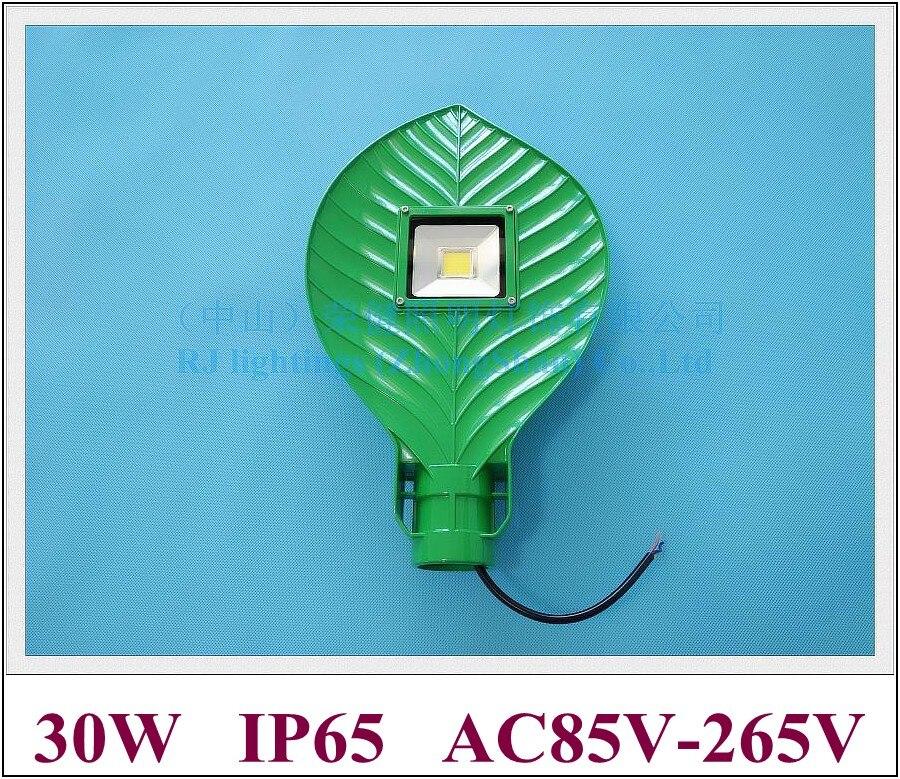 30W leaf shape LED street light lamp LED road light waterproof IP65 30W AC85V-265V input die-cast aluminum leaf style RJ-LS-K